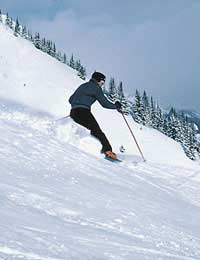 Skiing Athletic Stance Terrain Carve