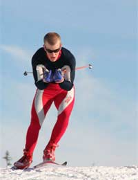 Skate Skiing Cross-country Tipping Glide